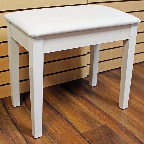 White Piano Bench Satin Finish with Storage Brand New