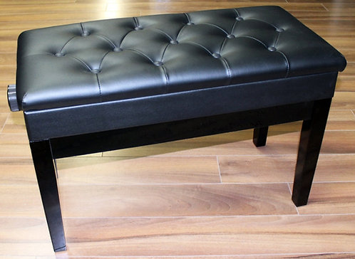 Double Adjustable Piano Bench with Book Storage Brand New