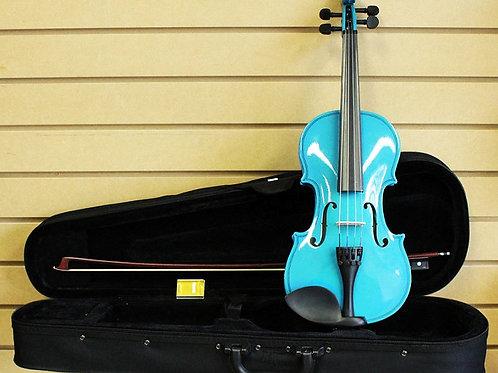 Bright Blue Violin Size 1/2