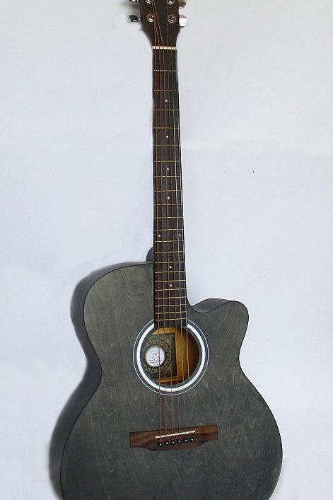 """Andrew Cutaway 40"""" Guitar - Vintage Black"""