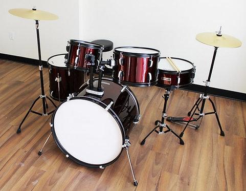 Full Size 5-Piece Drum Kits Hi-Hat, Crash, Hardware & Throne