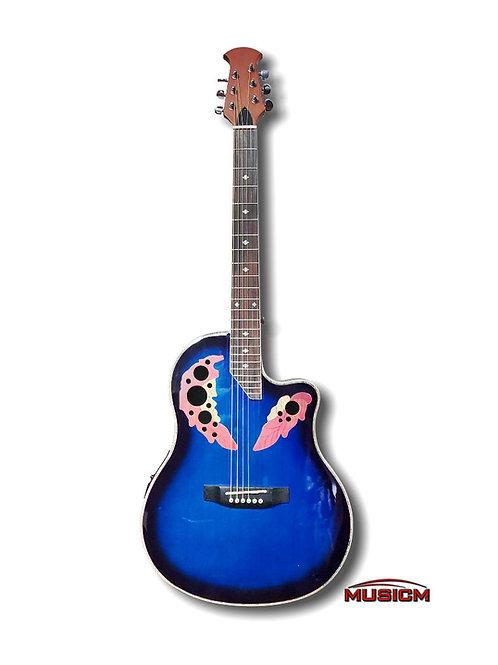 Roundback Electric Acoustic Guitar Blue