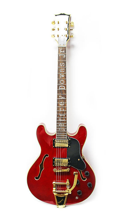 Electric Jazz Guitar Red Bigsby