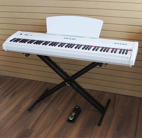 Digital Piano 88 Gradually Weighted Keys X-Stand Brand New (WH)