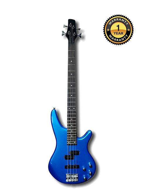 Electric Bass Guitar Blue
