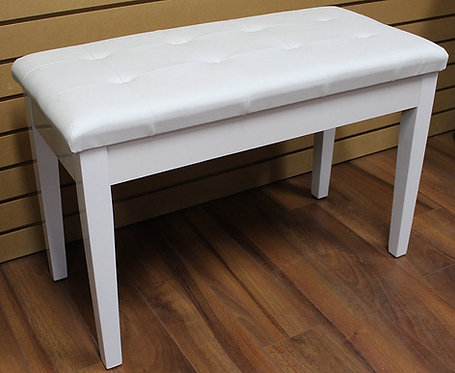 Piano Bench with book storage White Brand New