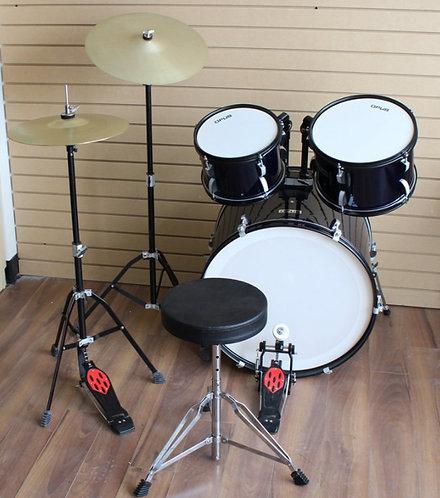 Full Size 3-Piece Drum Kits Crash, Hi-Hat & Throne