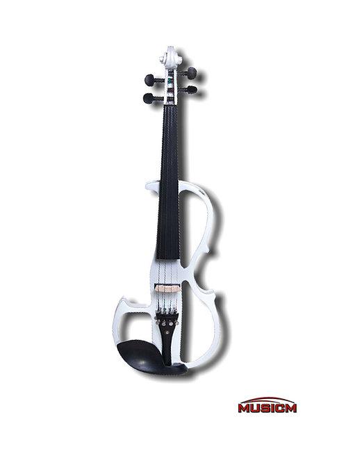 Electric Silent Violin White