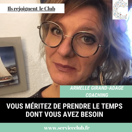 Armelle Girand d'Adage Coaching rejoint le Club 😍 !