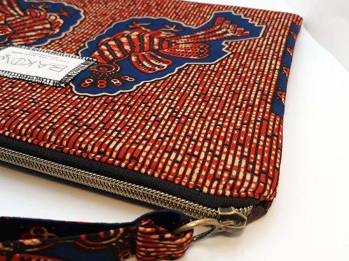 Pochette bi matière Bakow - rouge