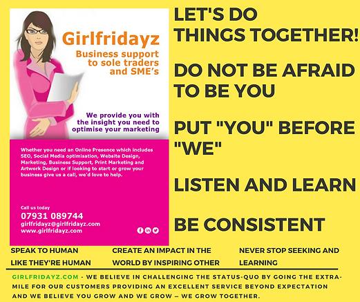 Girlfridayz Welcome