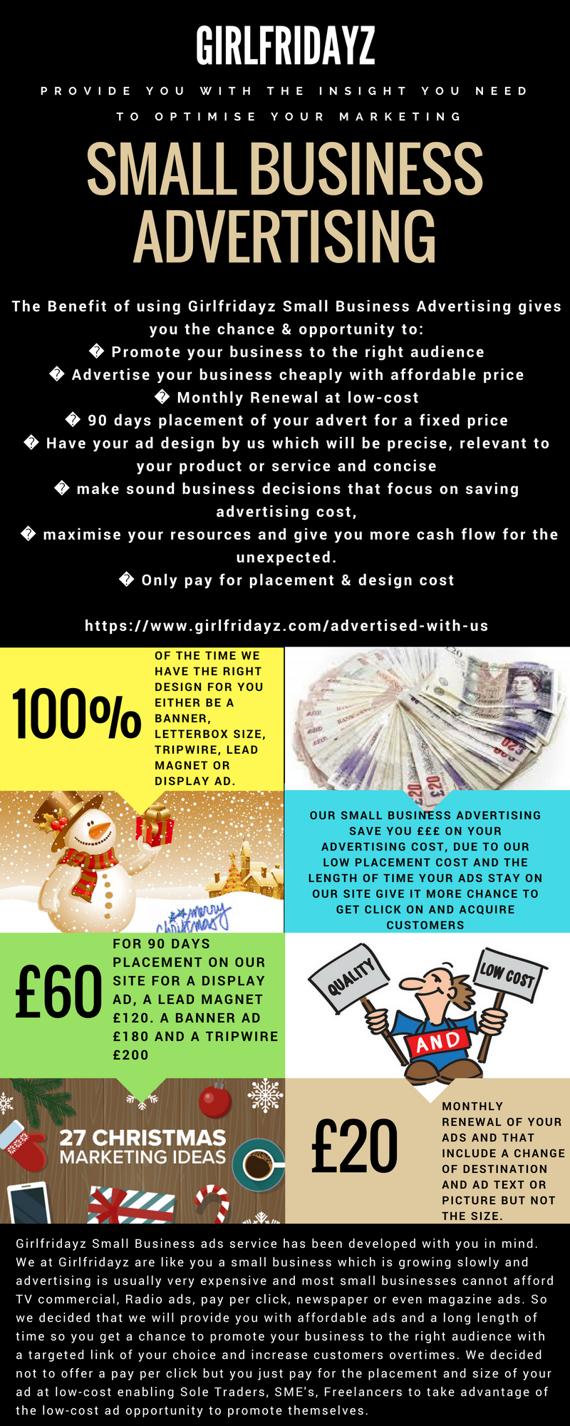 Girlfridayz Small Business Advertising