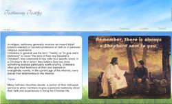 Testimony Testify