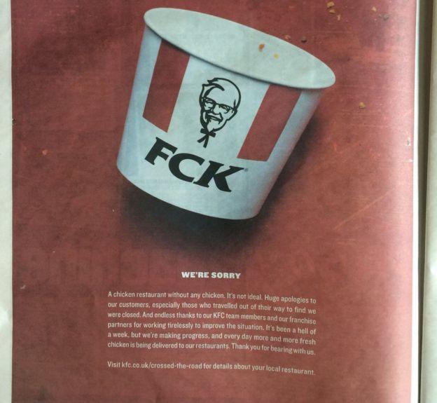 KFC apology Ad