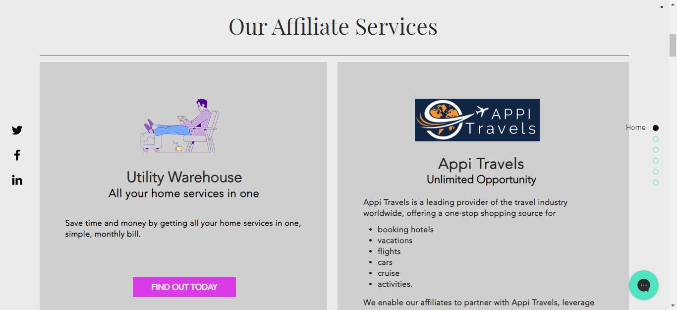 Affialate Website APA Landing Page
