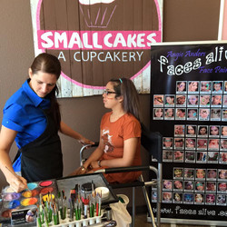 Angie Painting at Smallcakes