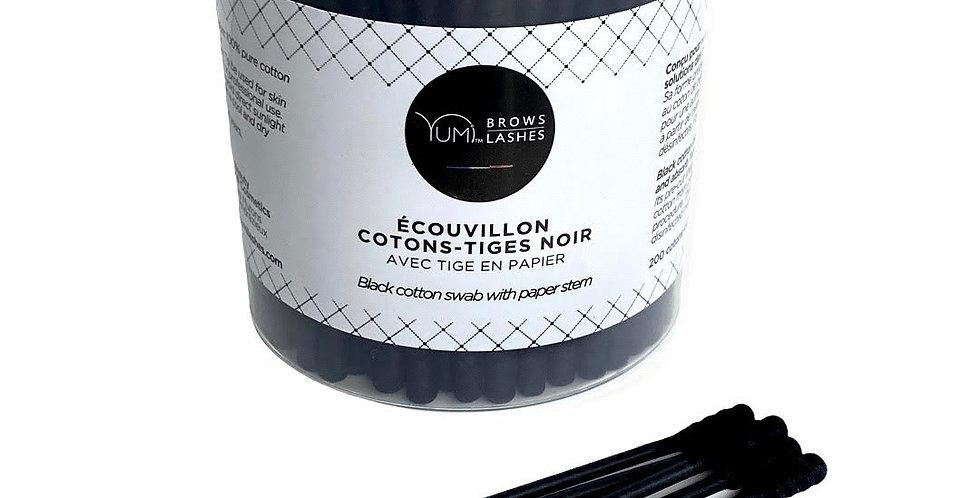 YUMI™ Black Cotton Swabs (200 Count)