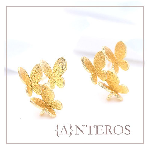 4pc/2pair Gold Vermeil Butterfly Knot Earring Stud,13mmx11mm(GFE0147)