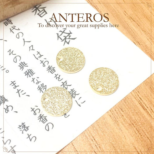 10PC Gold sanddust stamping blanks,8/12mm stardust metal blank(GFPC0204)