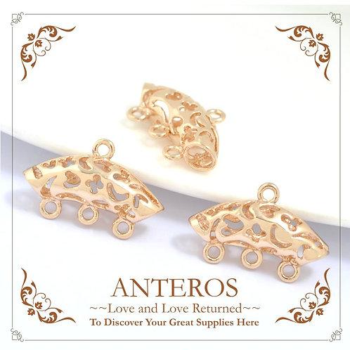 6 PCS Gold Filled Vintage Charms Holders,necklace pendants holders(GFF0029)
