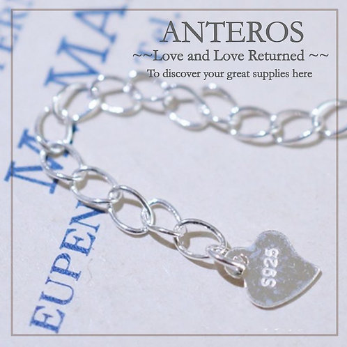 6PC 925 Sterling Silver Extended Chain with heart tag and 925 mark(SF0027)