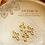 Thumbnail: 10PC Gold Tiny Small Hollow Cross Charms/Pendants,8*12mm(GFPC0069)