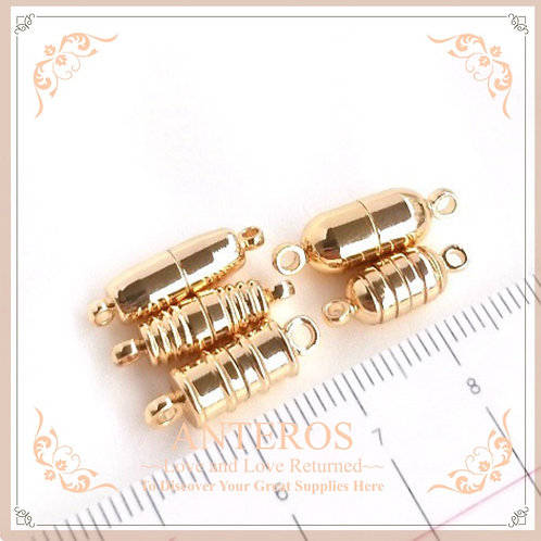 6pc Gold Plated DIY Bracelet Magnetic Clasp, 16mm-19mm,many style, (GFF0427)