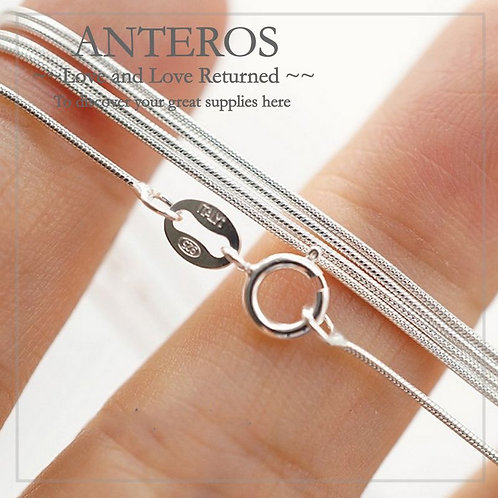 sterling silver findings, silver silver chain,1 PC Italy 925 Sterling Silver Snake Finished Chain,silver snake chain(SF0029)