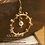 gold filled sun pendant, gold filled dotted circle connectors, gold filled sun connectors