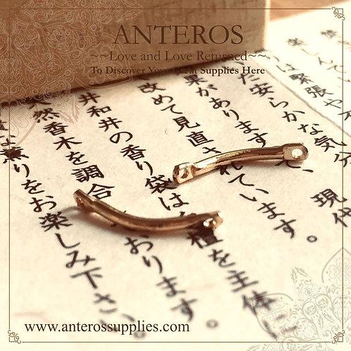 10 pcs Gold Filled Short Curve Bar Connectors/Links,Earrings Line 13mm(GFC0093)