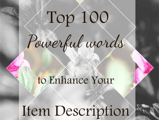 Top 100 powerful words to enhance your item descriptions