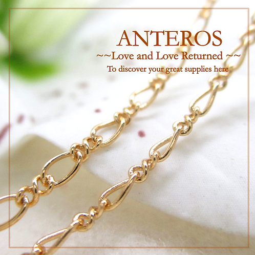 1 meter Gold Plate Figaro Chain w/ 2mm beads,Non-Finish Chain,2.1mm(GFF0013)