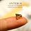 Thumbnail: 50/100PC Gold Small Flat Triangle/Geometric Beads,7.5mm(GFB0049B)