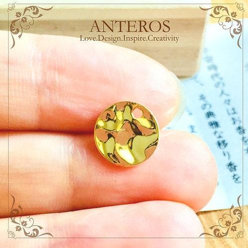 gold filled circle folding stamping blanks, round disc, circle disc