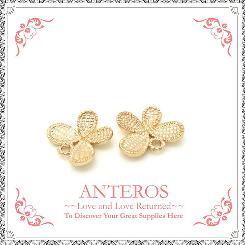 6PC Gold Small Butterfly Charms/Pendant,10mm*12mm(GFPC0037)