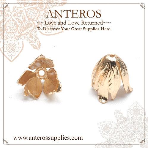 2 PCS Gold Filled Findings,Huge Tupil Flower Caps/Tassel Caps,22*20mm(GFBC0059), huge gold filled bead cones
