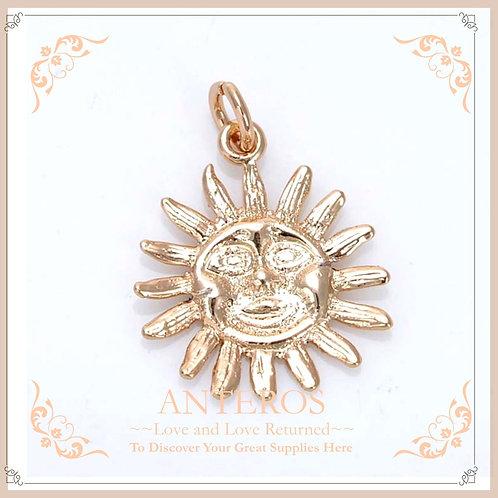 50PC Gold Sun Face Charms/Sun of May/Analog Man Pendants(GFPC0066B)