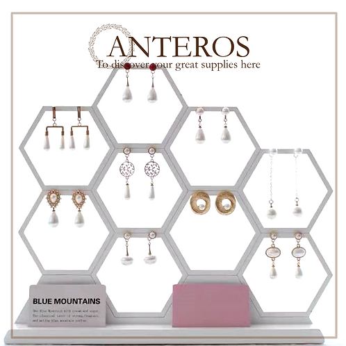 """1pc hexagonal honeycomb earring display, organizer, photograph,30cm(JS0005)"
