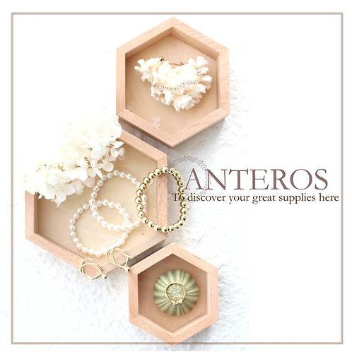 1 set wooden hexagonal jewelry box, jewelry organizer,jewelry display(JS0025)