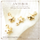Thumbnail: 10PC Gold Tiny Small Pentagonal Convex Stars, Starfish Charms(GFPC0160)