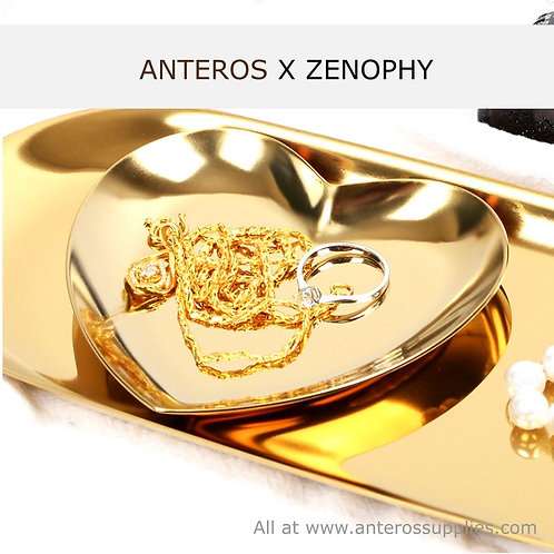 2 pcs gold heart jewelry plate,hearty jewelry stand,product photography(JS0002)