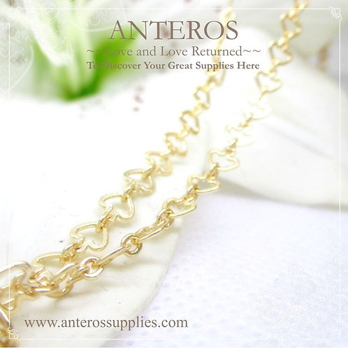 gold plated heart chain,gold plated spade chain,gold chain,gold plated chain,bulk chain, excellent price chain,jewelry chain