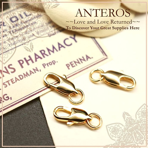 6 PCS Gold Filled Lobster Clasp, Gold Filled Findings Clasp,10mm*4mm(GFF0036)