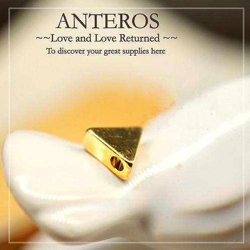 50/100PC Gold Small Flat Triangle/Geometric Beads,7.5mm(GFB0049B)