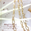 Thumbnail: 1 meter Gold Plate Figaro Chain w/ 2mm beads,Non-Finish Chain,2.1mm(GFF0013)