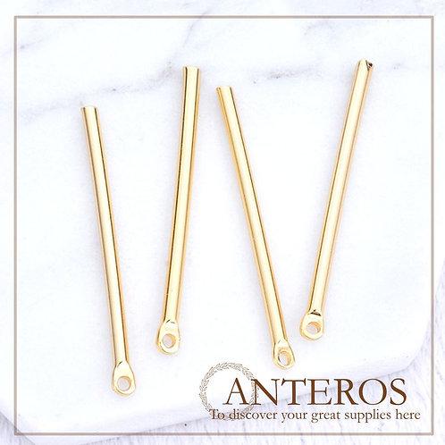 10 pcs Gold Filled Long Circle Bar, Round Stick,2.0x40mm(GFPC0241)