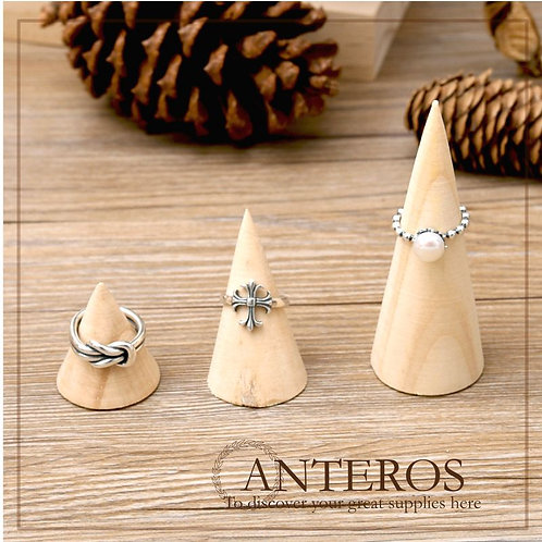1 set(3pc/4pc) wooden ring cone stand, jewelry ring organizer,jewelry display(JS