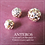 Thumbnail: 6PC Gold Pattern Ornament Beads/Round Beads/Sphere,8-12mm(GFB0099)