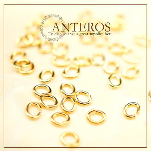 20pcs gold filled oval jump ring, 3.5mmx2.5mm, gold filled findings (GFF0060)
