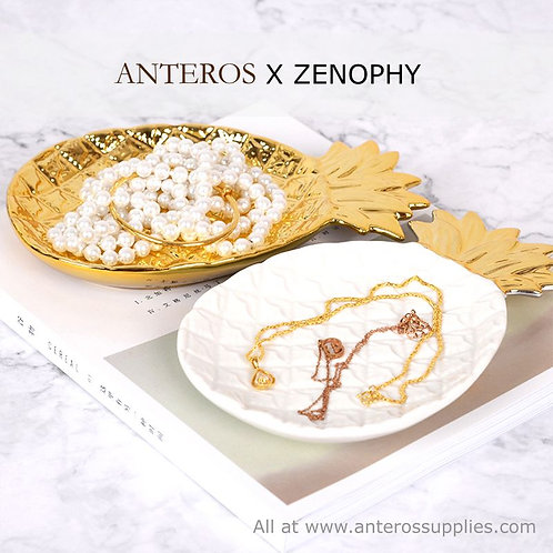 1 set gold & white pineapple jewelry plate,jewelry display,photography(JS0004)